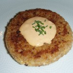 Crab Risotto Cake with Spicy Remoulade