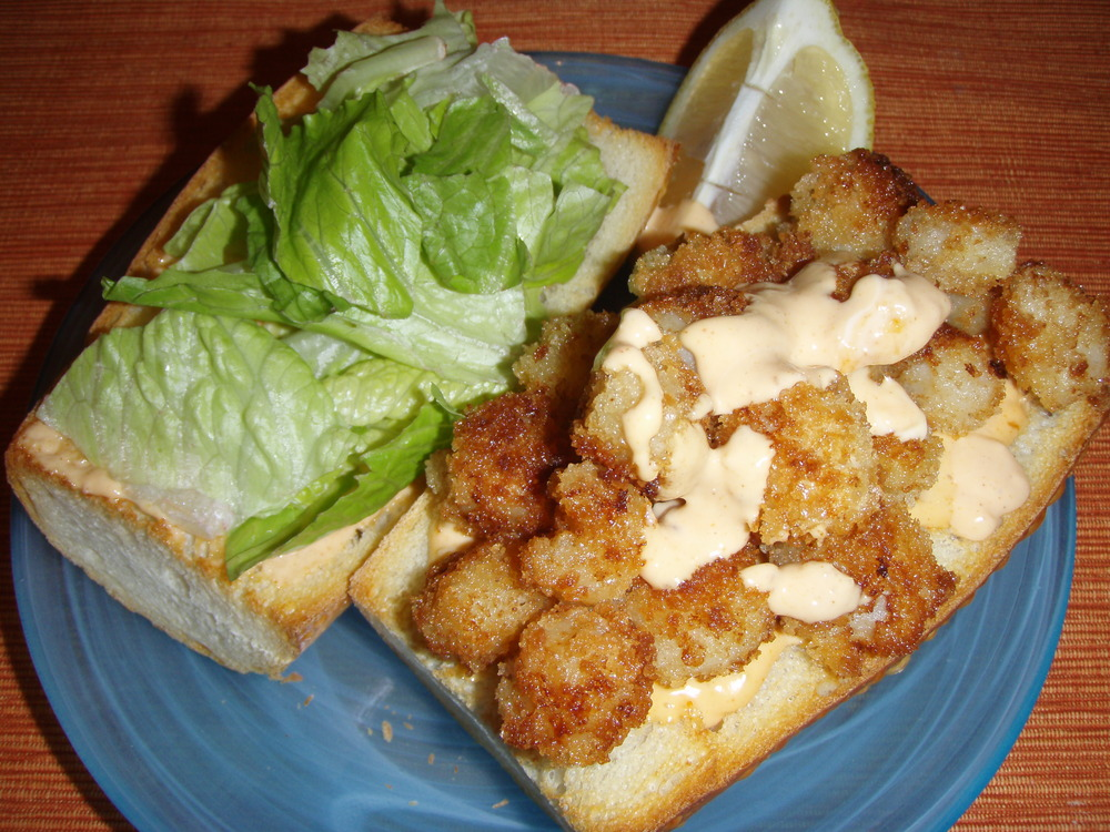 Spicy Scallop 'Po Boy with Spicy Remoulade