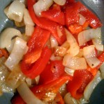 Grilled Pepper and Onions