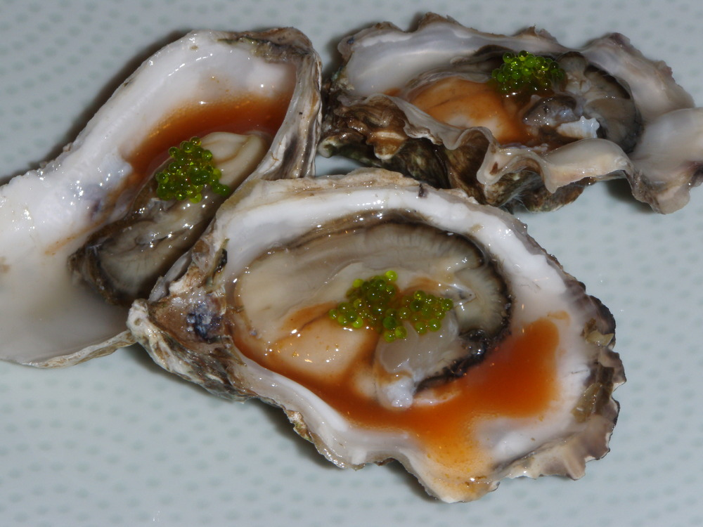welcome 2011 oyster shooters and oysters on the half shell