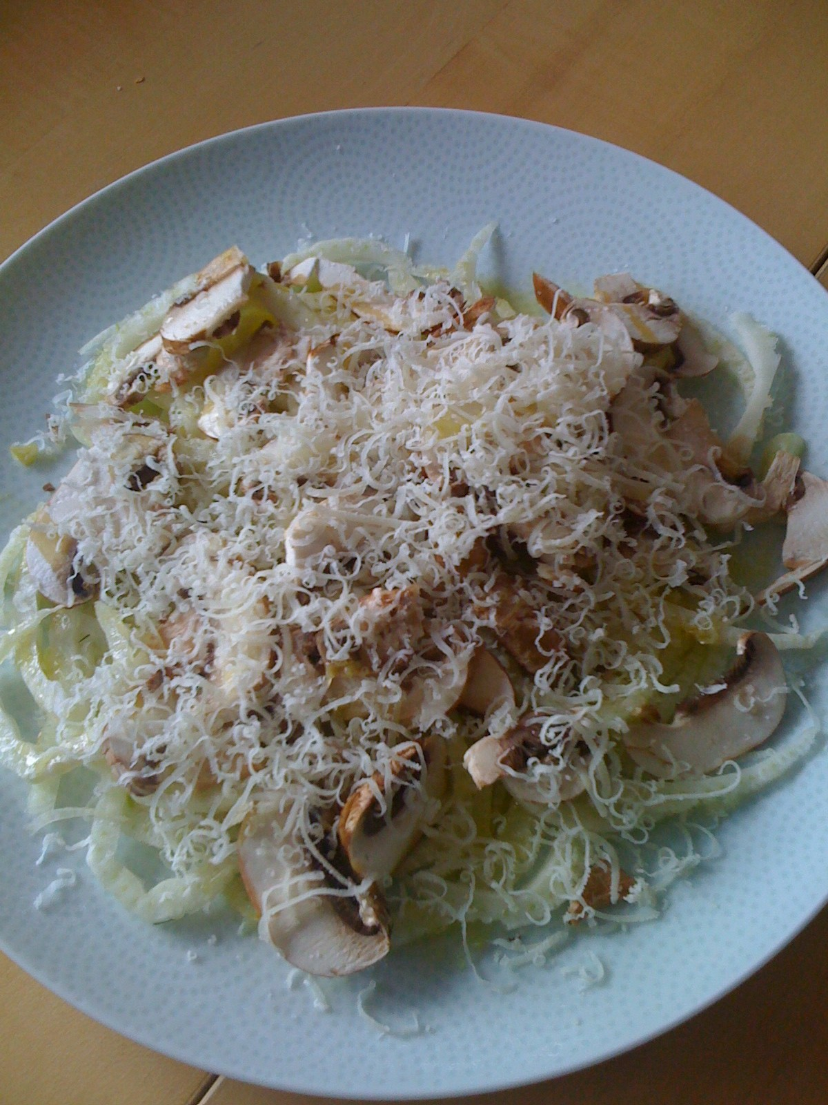 Shaved Fennel Salad with Criminis and Parmesan