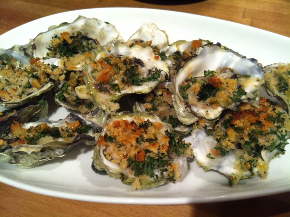 Happy as a Clam: Or Baked Oysters with Garlic Breadcrumbs