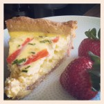 Smoked Salmon Quiche with Sauteed Leeks and Chevre