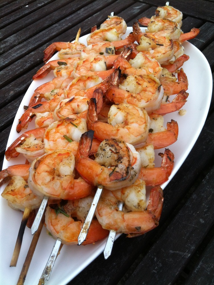 Like Father, Like Daughter: Grilled Shrimp with Lemon, Garlic, and ...