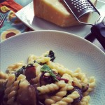 Vegetarian Carbonara with Summer Greens