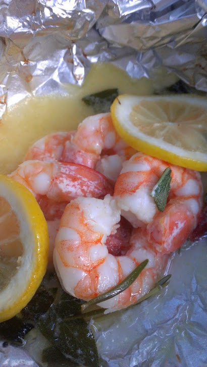 Camping Cucina: Grilled Shrimp with Rosemary, Lemon, and Garlic