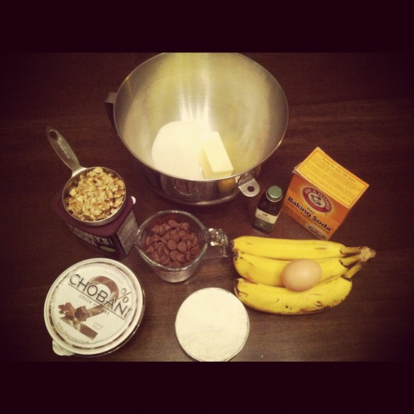 Ingredients for Banana Cake.