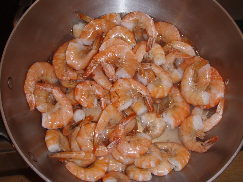 Shrimp (not yet shelled or deveined)