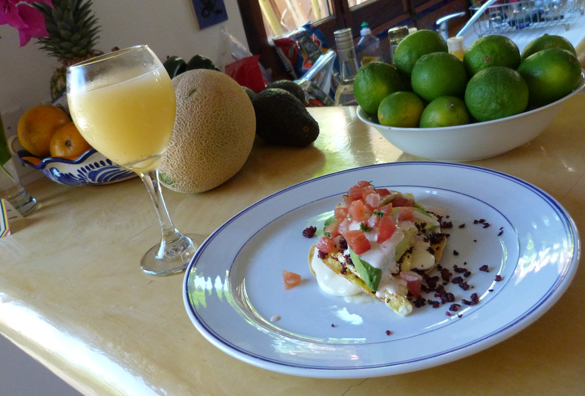 Breakfast Tostadas, Mimosas, Bloody Mary's...the good life.