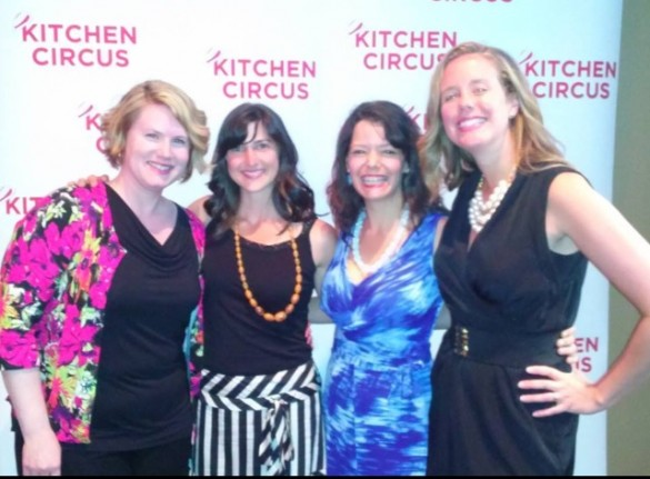 Kitchen Circus Season One Premier Party. L to R my fabulous friends who cheered me on every step of the way, Anna-Lea, Angela, and Andrea.