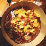 Cider Braised Pork Shoulder with Apples