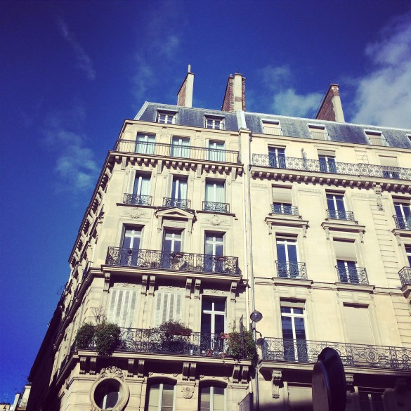 Bluebird day in Paris.